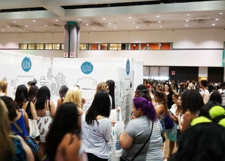 The crowd at Beautycon was amazing!