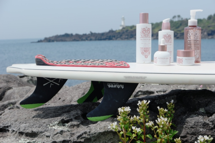Sungna Kim loves to surf off the coasts of Jeju Island