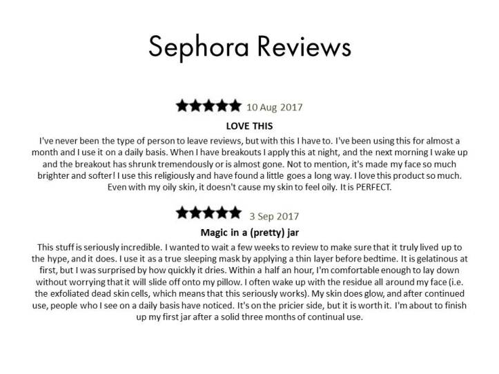 Sephora Reviews